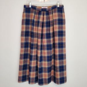 Vtg. Pendleton Cailean Tartan plaid midi skirt
